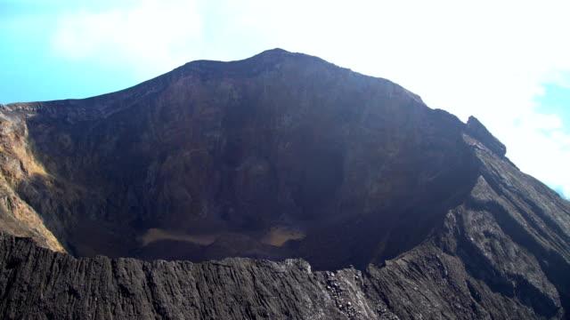 Aerial Mt Agung Gunung Agung volcano mountain Bali
