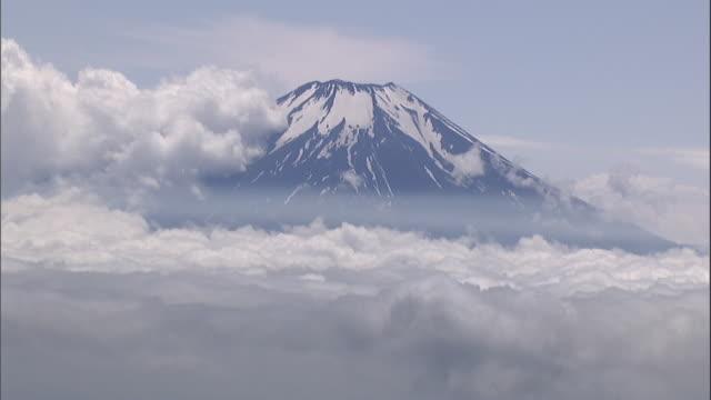 vidéos et rushes de aerial mt. fuji - préfecture de yamanashi