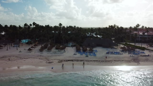 aerial: multiple buildings in punta cana - punta cana stock videos and b-roll footage