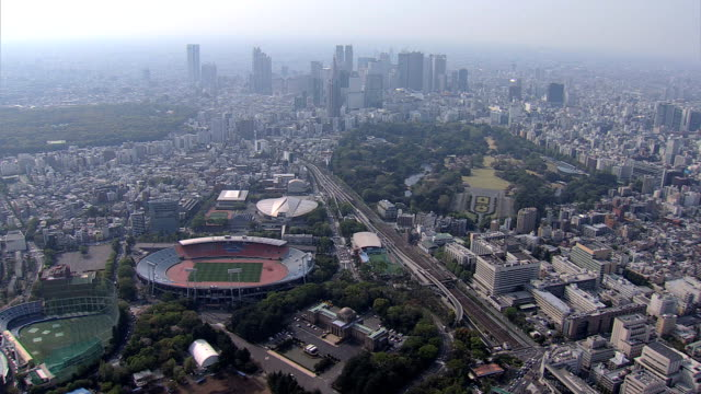 aerial national sports stadium 2020 olympic park tokyo - 2020 business stock videos and b-roll footage