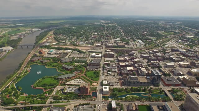 aerial nebraska at omaha - nebraska stock-videos und b-roll-filmmaterial