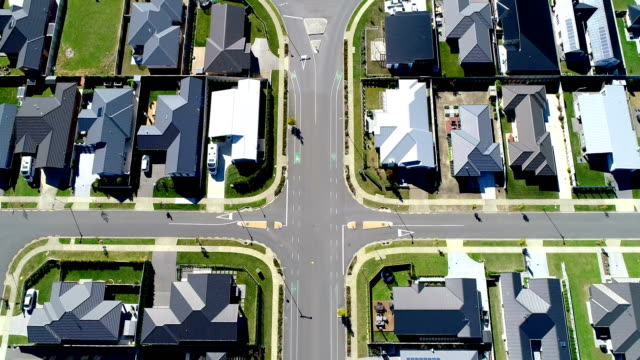 aerial neighbourhood view - new zealand stock videos & royalty-free footage