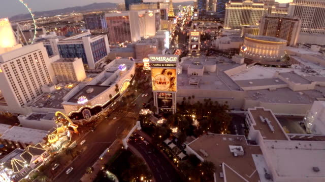 aerial nevada, las vegas - the strip las vegas stock-videos und b-roll-filmmaterial