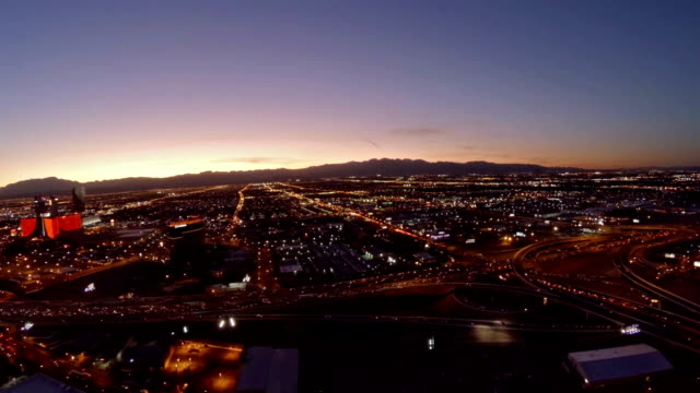 aerial nevada las vegas - the mirage las vegas stock videos & royalty-free footage
