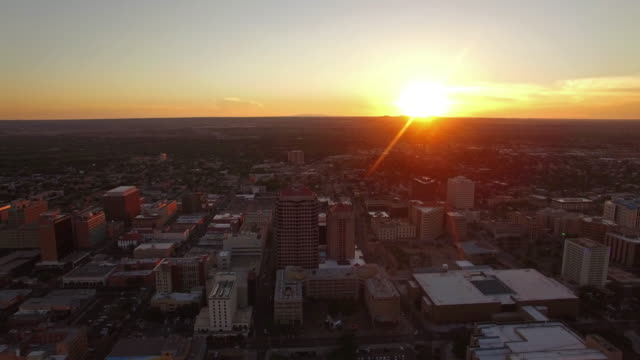 Vista aérea de la ciudad de Albuquerque, Nuevo México