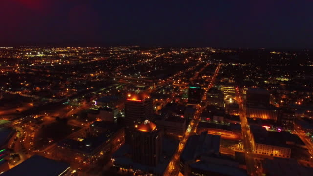 aerial new mexico albuquerque - twilight stock videos & royalty-free footage