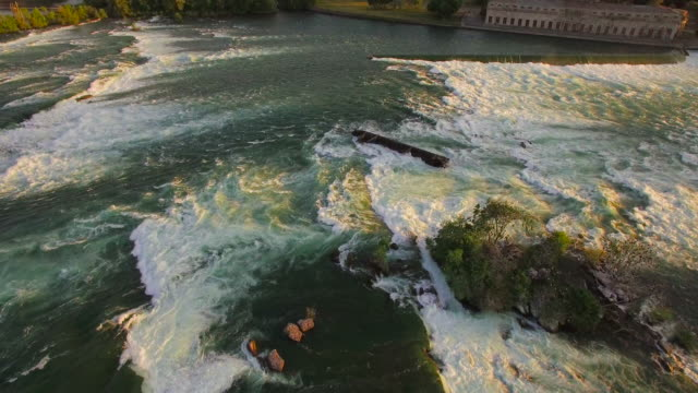 4k aerial niagara falls: pan view - niagara falls stock videos and b-roll footage