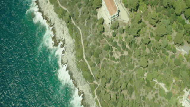vidéos et rushes de aerial nice, france (french riviera) - littoral