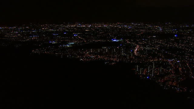 Aerial night shots West London residential area aerials London by night on March 26 2015 in London England