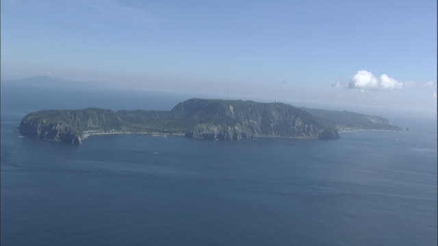aerial nii-jima island - satoyama scenery stock videos and b-roll footage