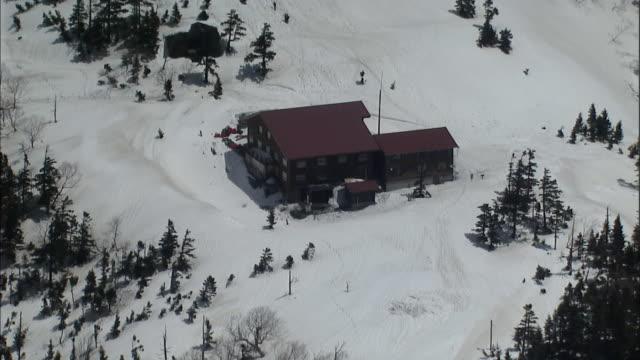 aerial northern japan alps - 山小屋点の映像素材/bロール