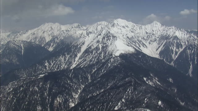 aerial northern japan alps - satoyama scenery stock videos and b-roll footage