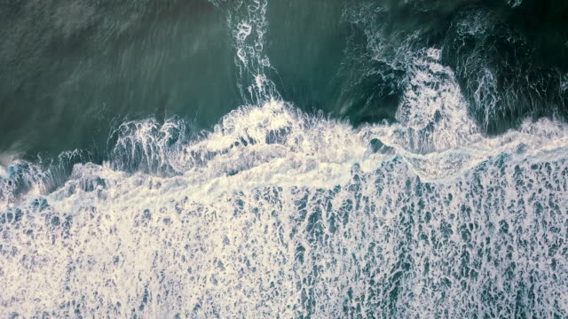 aerial ocean wave - drone point of view stock videos & royalty-free footage