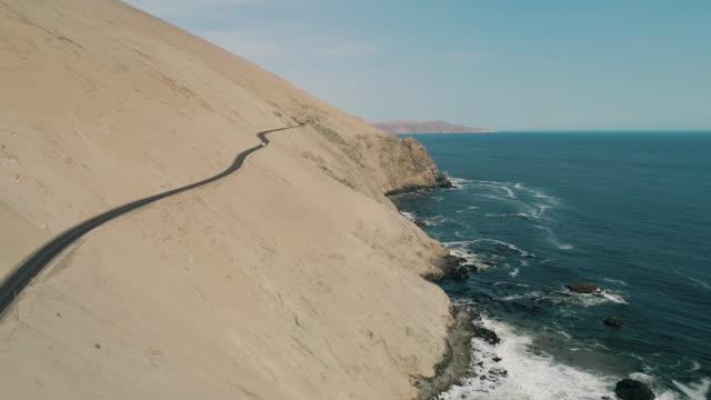 aerial of a pickup camper driving down the pan-american highway - pan american highway stock videos & royalty-free footage