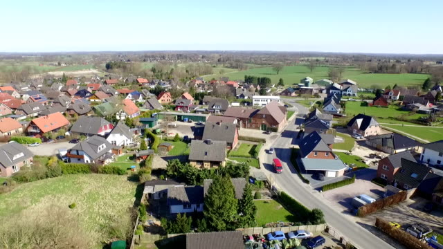 aerial of a village - schleswig holstein stock videos & royalty-free footage