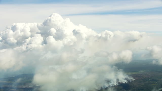 aerial of active volcano fissures erupting hot magma - tectonic stock videos & royalty-free footage