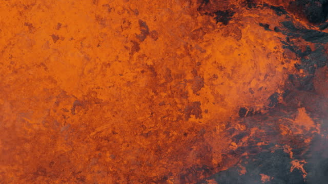 aerial of active volcano toxic sulphur gases erupting - sulphur stock videos & royalty-free footage