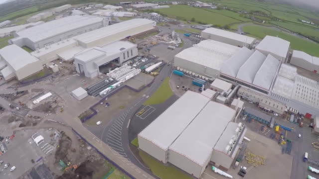 aerial of airbus factory in broughton that has announced job cuts due to the coronavirus pandemic - plant stock videos & royalty-free footage