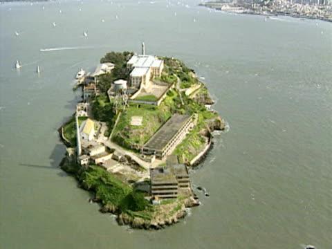 Aerial of Alcatraz