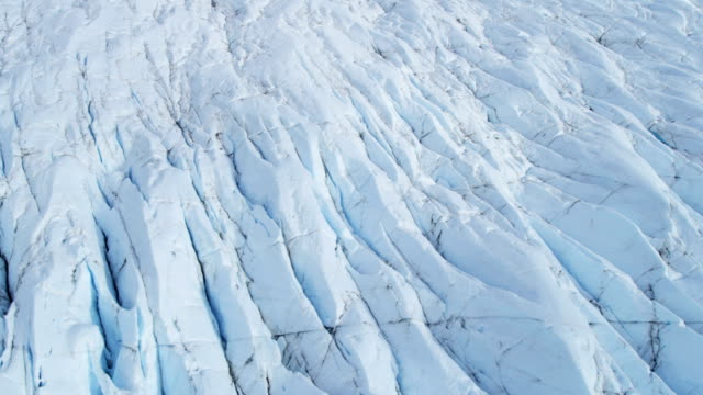 aerial of arctic glacier landscape alaska usa - ice floe stock videos & royalty-free footage