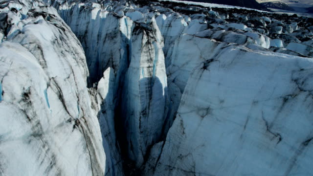 aerial of arctic glacier landscape alaska usa - 4k resolution stock videos & royalty-free footage