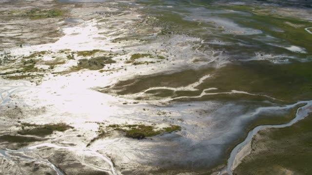 aerial of arctic glacier landscape alaska usa - delta stock videos and b-roll footage