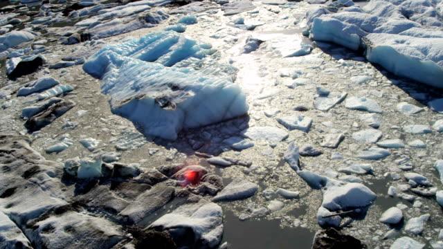 aerial of arctic glacier landscape alaska usa - icecap stock videos and b-roll footage