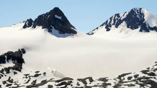 aerial of arctic glacier landscape alaska usa - last stock videos & royalty-free footage