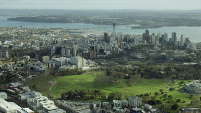 aerial of auckland city - auckland stock videos & royalty-free footage