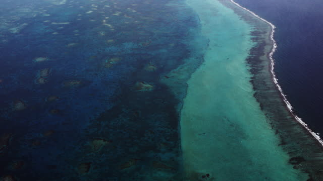 Aerial Of Barrier Reef To Great Blue Hole