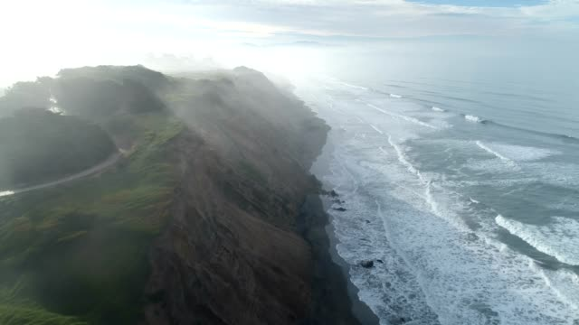 aerial of beach - iceland stock videos & royalty-free footage