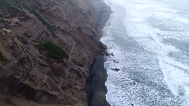 aerial of beach - pacific ocean stock videos & royalty-free footage