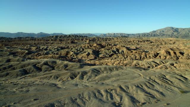 aerial of borrego badlands in california - 北半球点の映像素材/bロール
