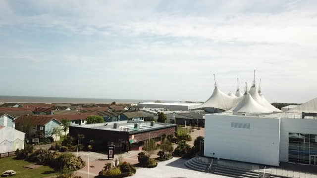 aerial of butlins skegness holiday resort - tourist resort stock videos & royalty-free footage