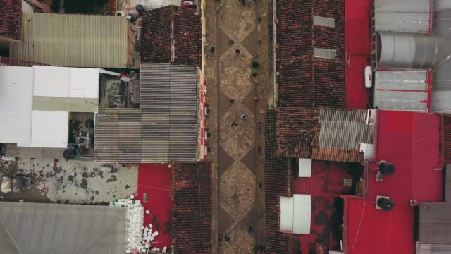 stockvideo's en b-roll-footage met aerial of calle real de guadalupe in san cristobal de las casas - city of neighbors: give once for all film title