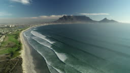 aerial of Cape Town coast