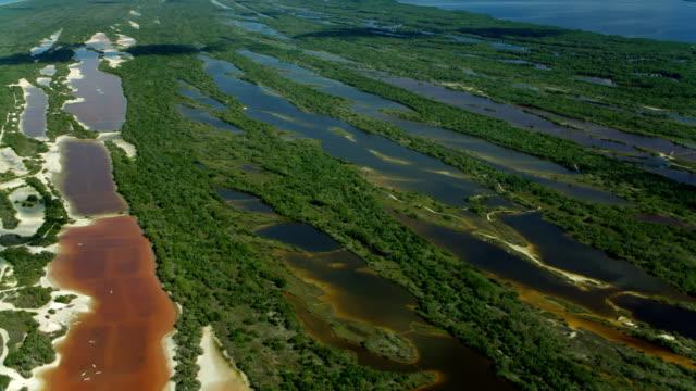 Aerial Of Celestun Wildlife Reserve Wetlands