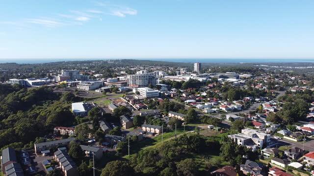 aerial of charlestown in newcastle, nsw - australia stock videos & royalty-free footage