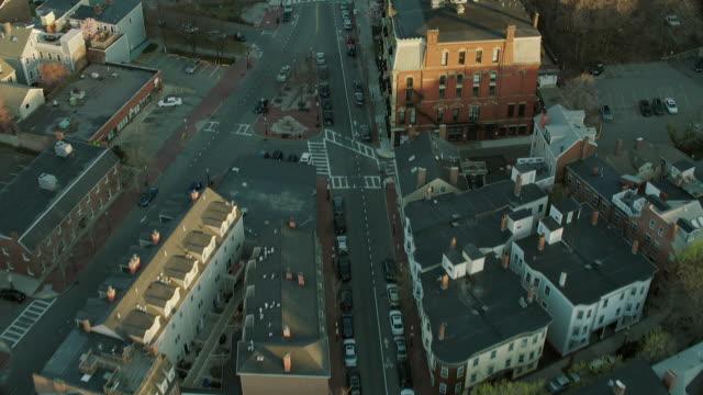 Aerial Of Charlestown Neighborhood In Boston