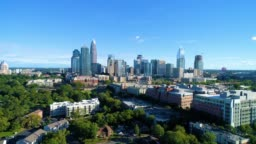Aerial of Charlotte, North Carolina NC