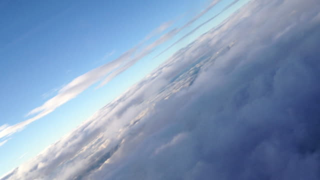 aerial of clouds over cape town, africa - schrägansicht stock-videos und b-roll-filmmaterial