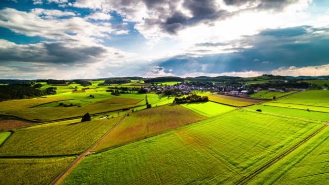 Aerial of Countryside in Germany - Eifel