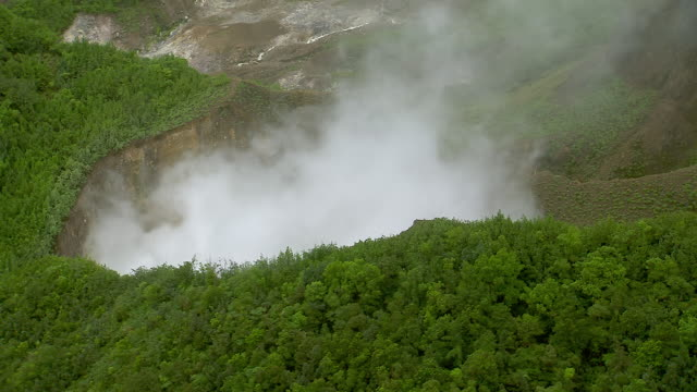 Aerial Of Dominica's Boiling Lake