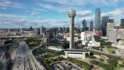 Aerial of Downtown Dallas, Texas