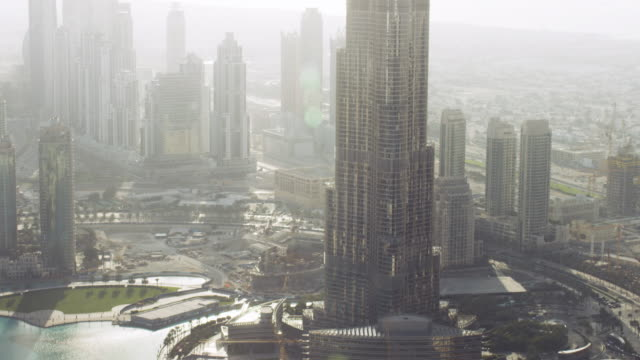 aerial of dubai 12 - burj khalifa stock videos & royalty-free footage