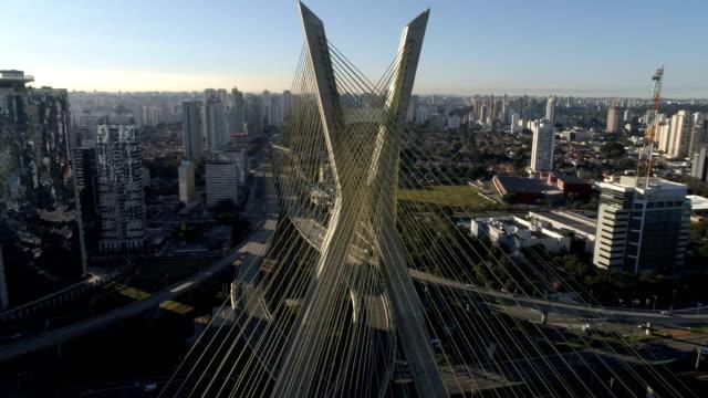 Aerial of Estaiada Bridge, Octavio Frias