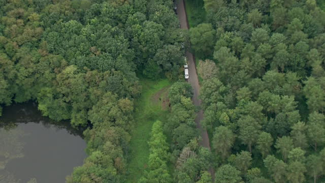 aerial of fishing lakes near york, that is being searched by police in the disappearance of claudia lawrence, who disappeared 12 years ago - quarry stock videos & royalty-free footage