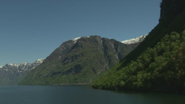 Aerial of fjord