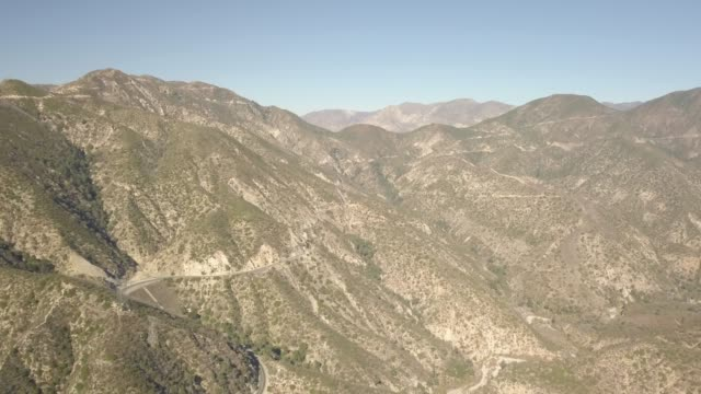 Aerial of Flying through Mountains