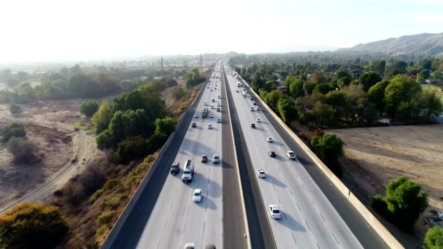 aerial of freeway - pasadena california stock videos and b-roll footage